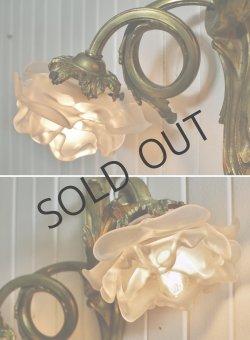画像4: ルイ15世風2灯式バラのアプリック