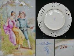 画像4: ドレスデン磁器 パンジー文透かし絵皿