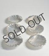貝の形をした銀の小皿 6客