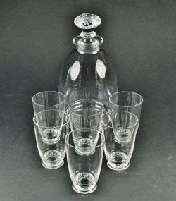 画像1: 【LALIQUE】ラリック SAINT-HUBERT 酒器セット