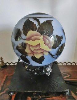 画像2: 【NANCEA】ナンセア 黄色い薔薇のテーブルランプ