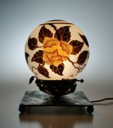 【NANCEA】ナンセア 黄色い薔薇のテーブルランプ