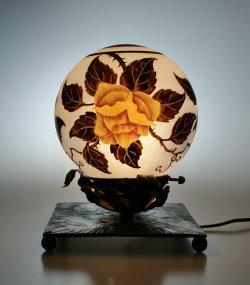 画像1: 【NANCEA】ナンセア 黄色い薔薇のテーブルランプ