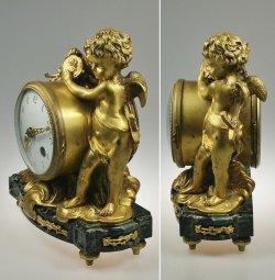 画像2: ブロンズの置時計 戦うエンゼル