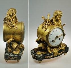 画像4: ブロンズの置時計 戦うエンゼル