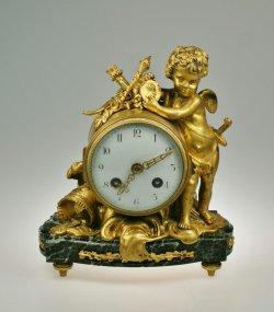 画像1: ブロンズの置時計 戦うエンゼル