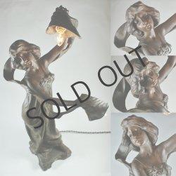 画像4: アールヌーヴォー 女性像のランプ