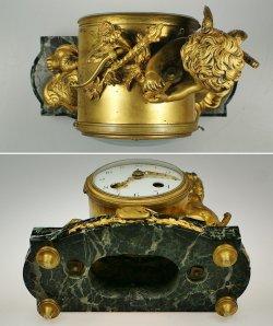 画像5: ブロンズの置時計 戦うエンゼル