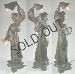 画像3: アールヌーヴォー 女性像のランプ