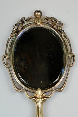 画像2: アール・ヌーヴォーの手鏡