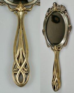 画像3: アール・ヌーヴォーの手鏡