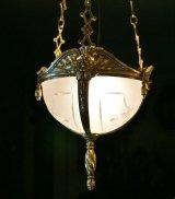 アールデコの吊りランプ