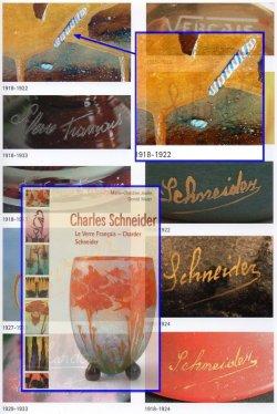 画像4: 【SCHNEIDER】赤色縦縞文鶴首花瓶
