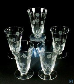 画像1: 【Cristal de SEVRES】セーヴル グラス (M) 5客