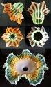 画像5: 春色ヴァセリンガラスの4灯式シャンデリア