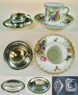 画像3: 【COIGNET】コワニェ 純銀製ミニチュアカップ&ソーサー