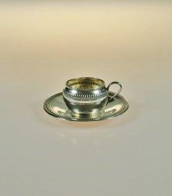画像1: 【COIGNET】コワニェ 純銀製ミニチュアカップ&ソーサー