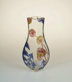 画像1: タンポポ文エナメル彩花瓶