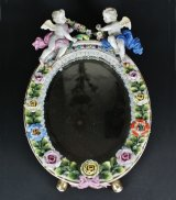 【SITZENDORF】ジッツェンドルフ 天使と花の鏡