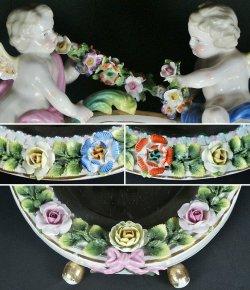 画像4: 【SITZENDORF】ジッツェンドルフ 天使と花の鏡