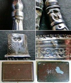 画像4: 小さな銀のソーイングセット