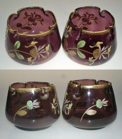 画像3: スイカズラ文エナメル彩花器一対