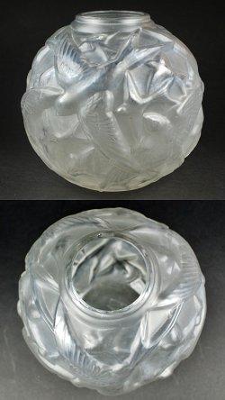 画像2: 【DELATTE】ドゥラット 燕文球形花瓶