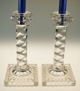 【BACCARAT】バカラ イオニア式円柱型キャンドルスタンド一対