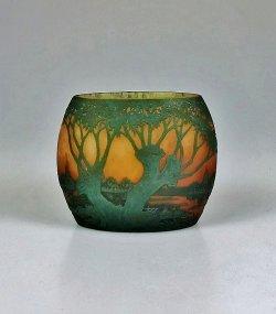 画像1: 【DAUM】ドーム 湖畔風景文花器