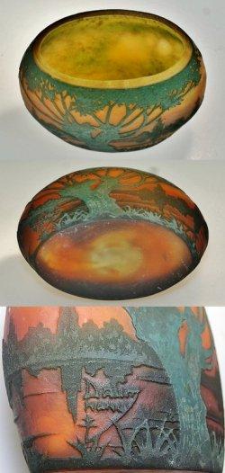 画像4: 【DAUM】ドーム 湖畔風景文花器