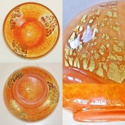 画像3: 【DAUM】ドーム 金箔入りオレンジ色の鉢