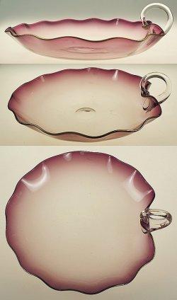 画像3: 蓮の葉型ガラスのデザートセット