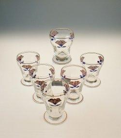 画像1: エナメル彩ワイングラス6客