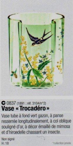 画像4: 【LEGRAS】ルグラ 燕文エナメル彩花器