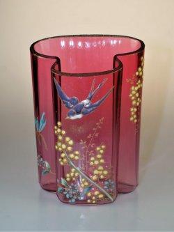 画像2: 【LEGRAS】ルグラ 燕文エナメル彩花器