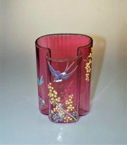 画像1: 【LEGRAS】ルグラ 燕文エナメル彩花器
