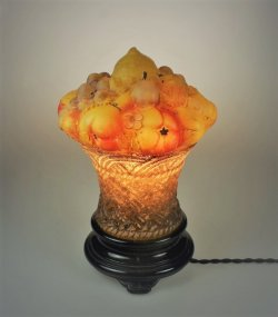 画像1: フルーツバスケット型テーブルランプ