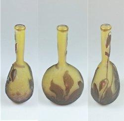 画像2: 【GALLE】ガレ クレマチス文鶴首花瓶