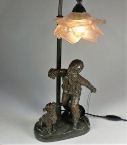 画像1: 【MAXIM】マクシム 少年と犬のランプ