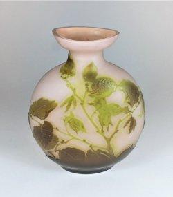 画像1: 【GALLE】ガレ ノワゼット文扁壺型花瓶