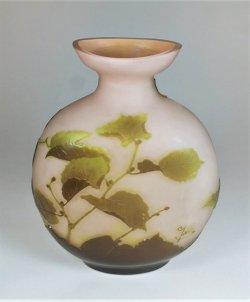 画像3: 【GALLE】ガレ ノワゼット文扁壺型花瓶