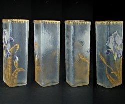 画像2: 【LEGRAS-MONJOYE】ルグラ-モンジョワ アイリス文角形花瓶