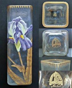 画像3: 【LEGRAS-MONJOYE】ルグラ-モンジョワ アイリス文角形花瓶