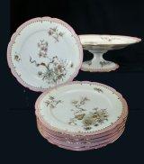 【HAVILAND】アヴィランド 花絵デザート皿とコンポート
