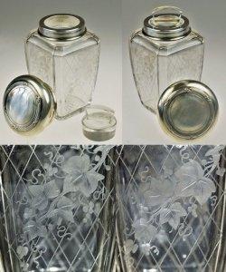 画像3: 蔦文グラヴュール銀蓋付きフラコン
