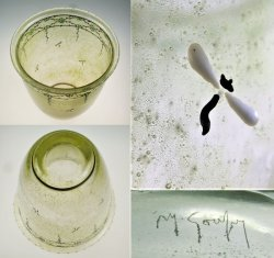 画像3: 【GOUPY】グピー エナメル彩泡入りガラス花器