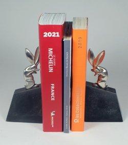 画像2: 【RISCHMANN】ブロンズ彫刻 兎のブックエンド