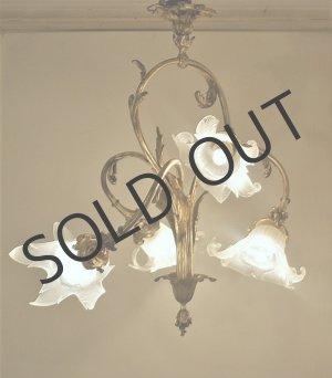 画像: ルイ15世風花束型4灯式シャンデリア
