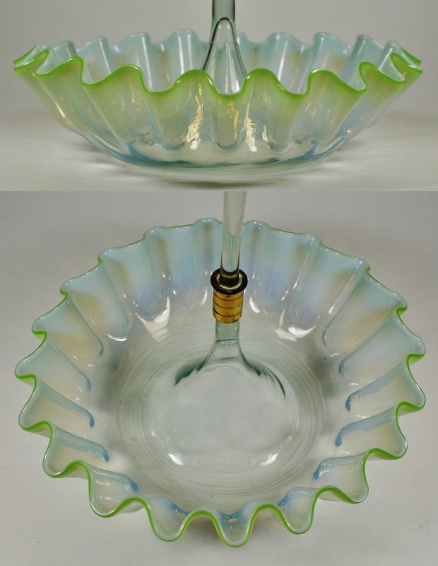 画像3: オパルセントガラスのコルネ型花器 (3)